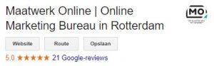 Recensies in Google mijn Bedrijf